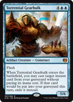 画像1: [英語版/NM-]《奔流の機械巨人/Torrential Gearhulk》(KLD)